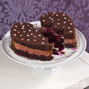 Kuchen herzform valentinstag