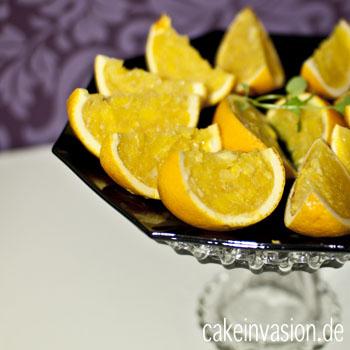 Dessert: Eine Mogelpackung – Orangengelee tarnt sich als Orange (vegan, laktosefrei, glutenfrei)