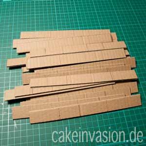 Pappkartonstreifen für Ananasform DIY