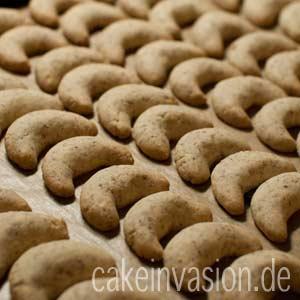 Vanillekipferl gebacken