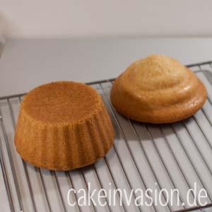 Ober- und Unterteil des Riesencupcakes