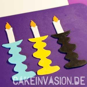 Kerzenständer aushärten lassen