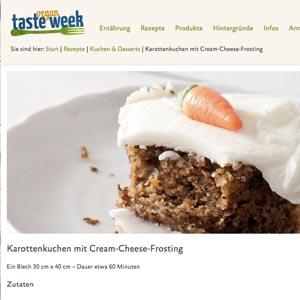 Karottenkuchen Cake Invasion Vegan Taste Week