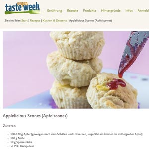 Apple Scones Vegan Taste Week Albert Schweitzer Stiftung Cake Invasion