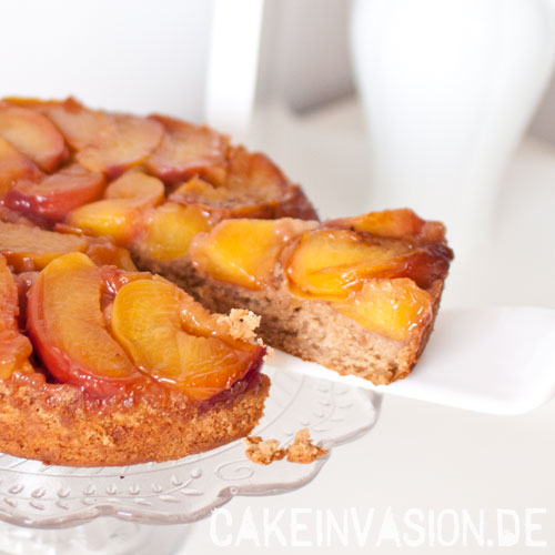 Pfirsich-Upside-Down-Kuchen
