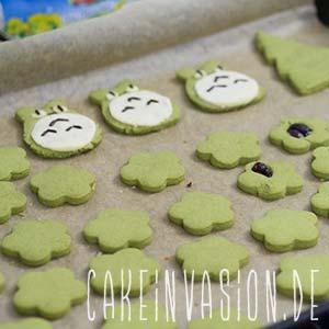 Gebackene Matcha Cookies