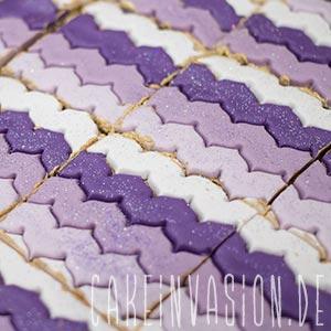 Kuchen in quadratische Stücke schneiden