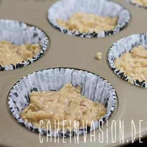 Kaffee-Walnuss-Cupcakes vor dem Backen