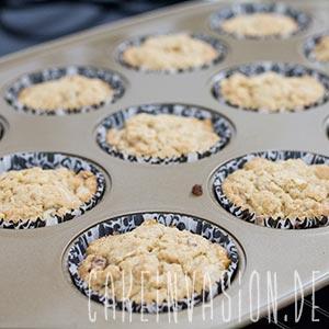 Kaffee-Walnuss-Muffins gebacken