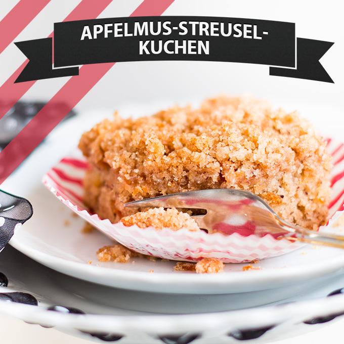 Apfelmus Streusel Kuchen Cake Invasion