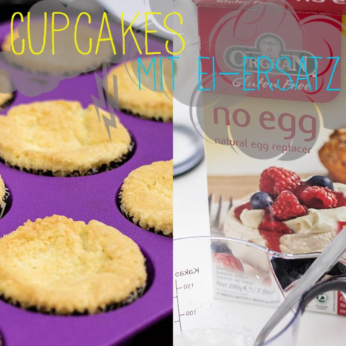 Cupcakes mit Ei-Ersatz