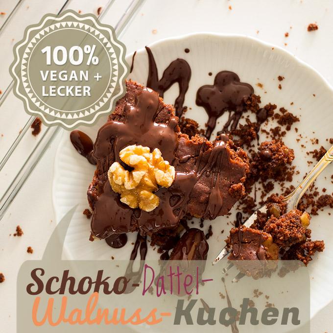 Schokoladen-Dattel-Walnuss-Kuchen
