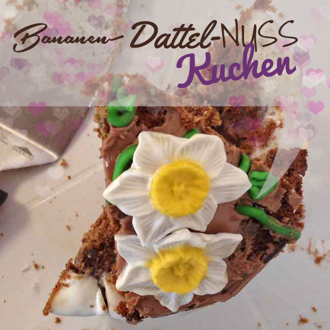 Bananen Dattel Nuss Kuchen Vegan Cake Invasion