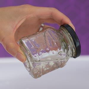 Glas schütteln