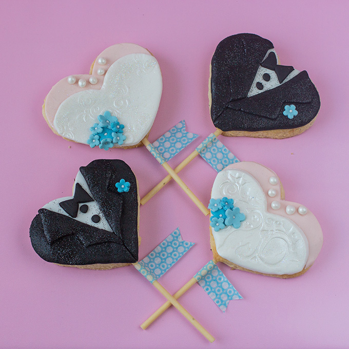 Braut- und Bräutigam-Kekse