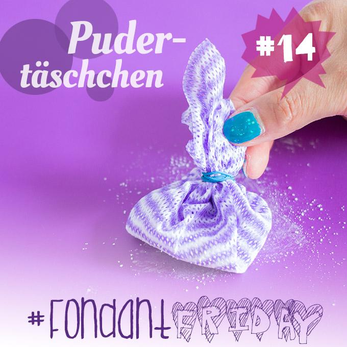 #FondantFriday Pudertäschchen Puderbeutel Pudersäckchen Dusting Pouch