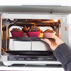 Mikrowellenofen: Cupcake Einstellungen