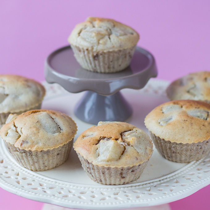 Birnen-Muffins mit Walnüssen