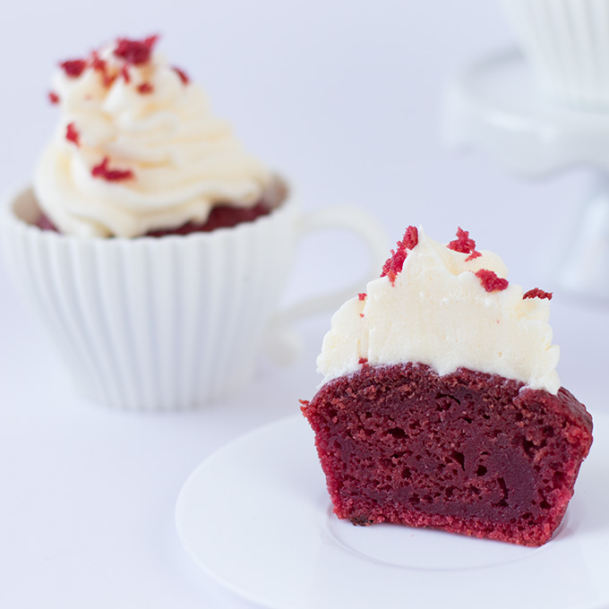 Red Velvet Cupcakes Ohne Lebensmittelfarbe Vegan Cake Invasion