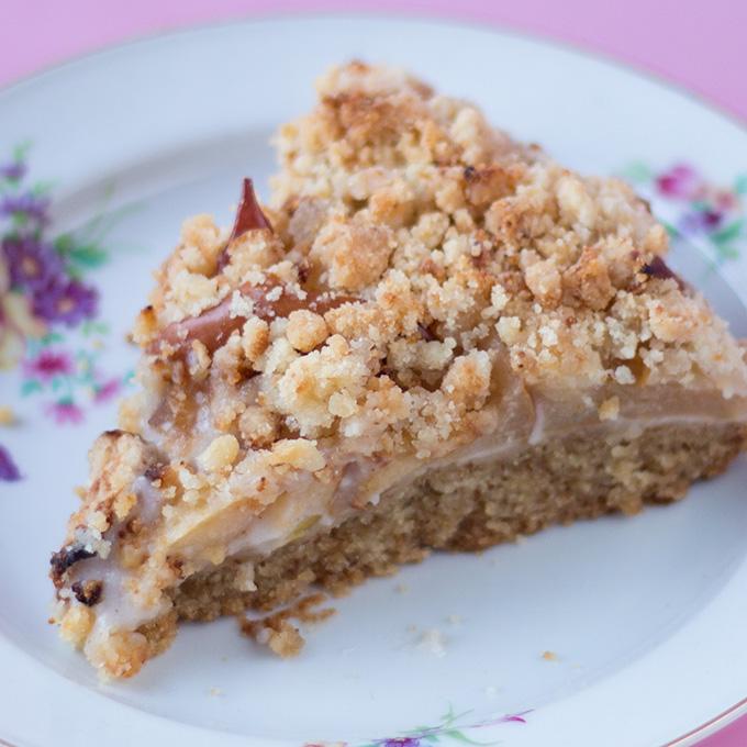 Apfel mandelcreme kuchen mit streuseln vegan cake for Gunstige kuchen mit einbau