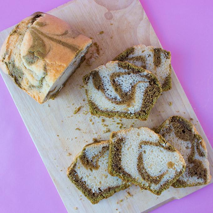 Matcha Marmor Kuchen vegan