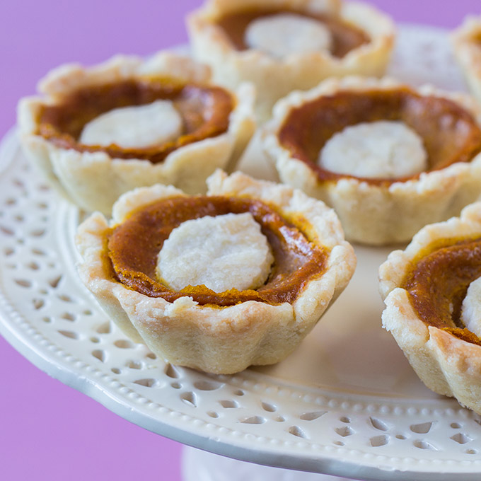 Mini Pumpkin Pies - kleine Kürbis-Törtchen vegan